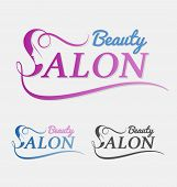 Beauty Salon Logo Design With Female Face In Negative Space On Letter S. poster