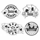 Постер, плакат: Casino and gambling badges or emblems