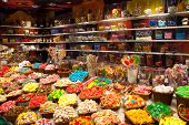 stock photo of laxatives  - Large choice of sweets in a candy shop - JPG