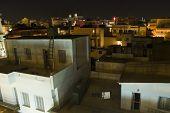 city of heraklion iraklion on crete cityscape at night poster