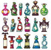 Постер, плакат: Halloween Magic Potion Bottles Set