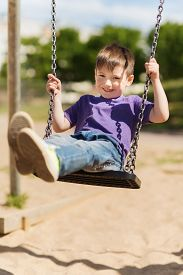 picture of swing  - summer - JPG