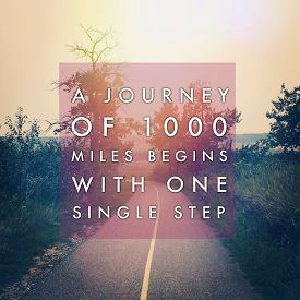 picture of mile  - Inspirational Typographic Quote  - JPG