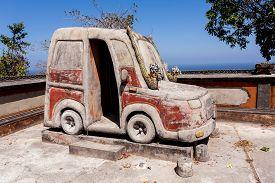 foto of hindu  - Famous Hindu Car Temple Nusa Penida Bali Indonesia - JPG