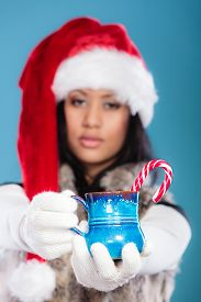 pic of mug shot  - Christmas time concept - JPG