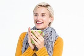pic of feeling better  - Close up of woman drinking from a cup to feel better - JPG