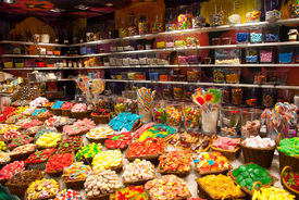 picture of laxatives  - Large choice of sweets in a candy shop - JPG