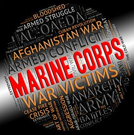stock photo of corps  - Marine Corps Showing Naval Infantry And Battle - JPG
