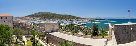 pic of promontory  - Cesme is a coastal town and the administrative centre of the district of the same name in Turkey - JPG