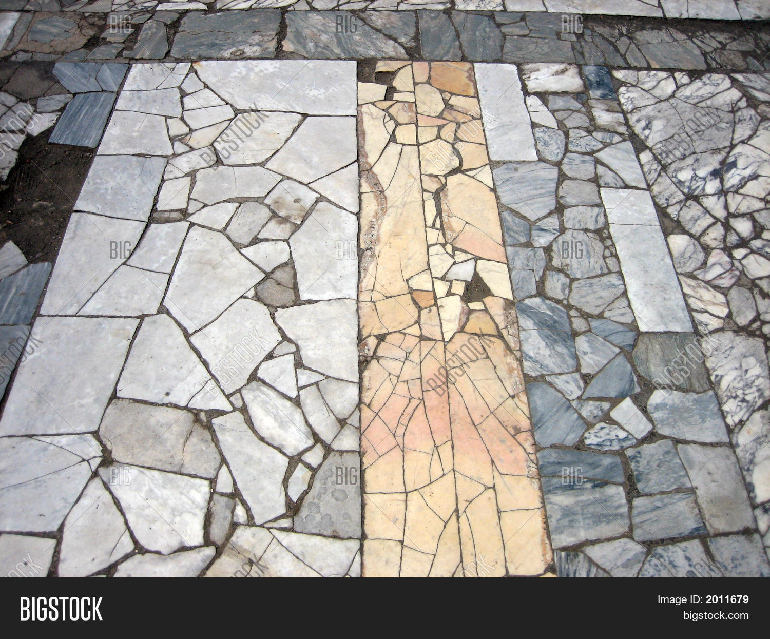 Ancient Roman Marble Floor In Pompei Stock Photo Amp Stock