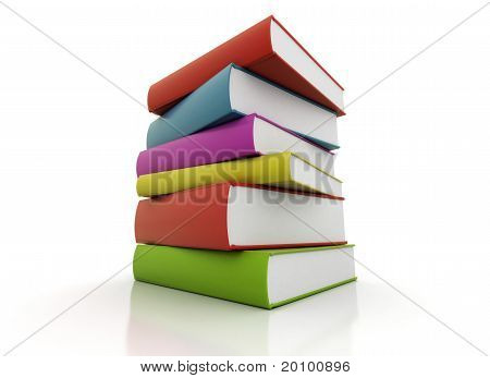 Colorful Books Stacked