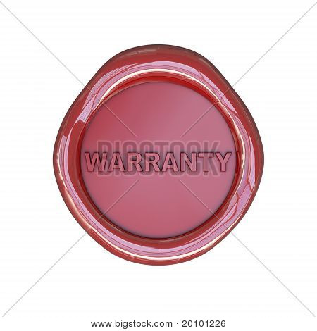 Wax seal with warranty text