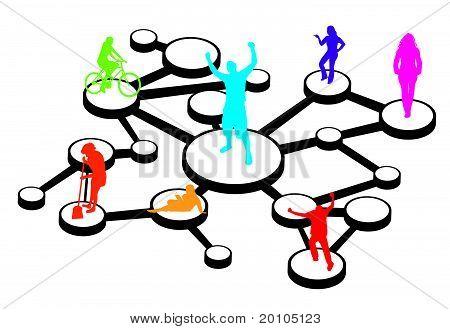 Social Media Connections Diagram