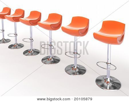 Stylish Orange Cafeteria Chairs