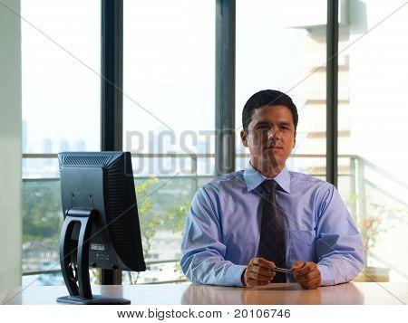 Latino Executive Corner Office Window