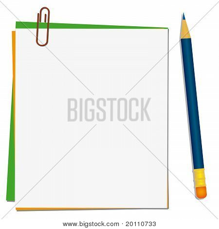 Pencil And Paper For Notes