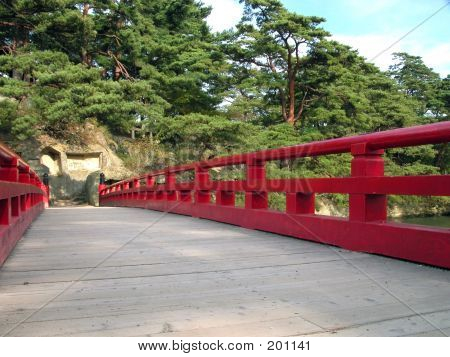 Picture or Photo of Interesting japanese bridge perspective on matsushima,one of the best three views from japan.