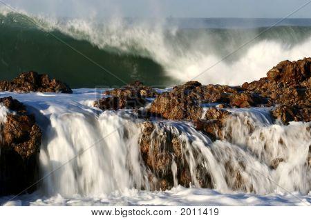 Ocean Waves And Rocks