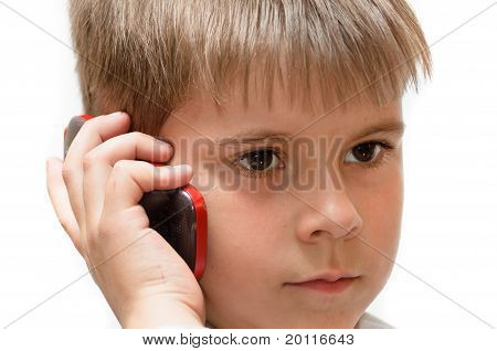A Boy With A Cell Phone