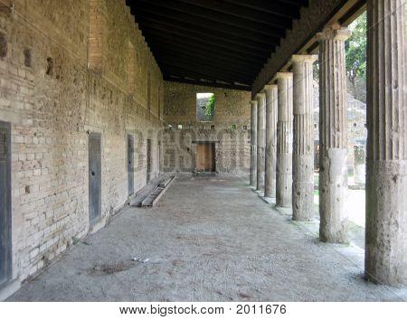 Gladiator Quarters In Pompei