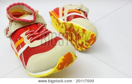 colourful sport shoes