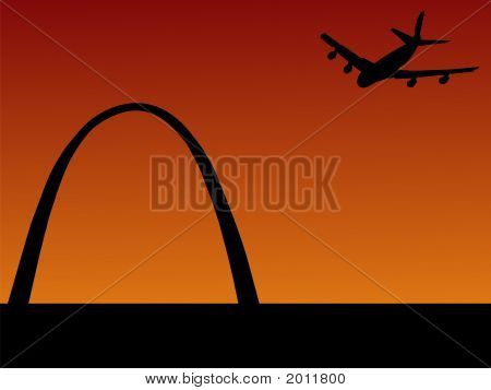 Plane Arriving In St Louis