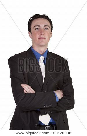 Close Up Of  Well Dressed  Businessman With Crossed Arms