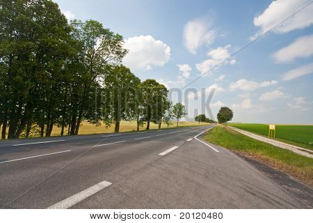 Empty Road In Country Land