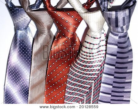 a group of ties