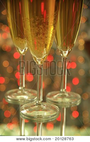 Champagne in glasses