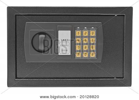 Metal Safe Isolated On White