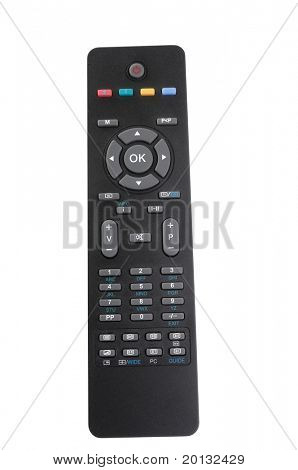 Tv remote control separate white