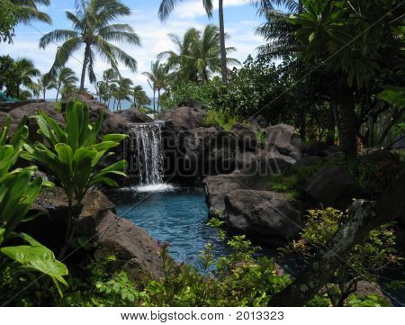 Waterfall And Lagoon