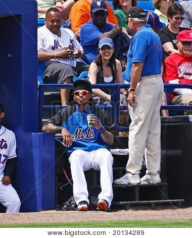PORT ST. LUCIE, FLORIDA - MARCH 24: NY Mets shortstop Jose Reyes at a spring training game after being cleared by doctors due to an overactive thyroid on March 24, 2010 in Port St. Lucie, Fla.