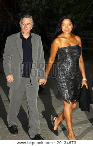 NEW YORK - APRIL 20: Actor Robert DeNiro and Grace Hightower arrive at New York State Supreme Court for the Vanity Fair Party during the 2010 Tribeca Film Festival on April 20, 2010 in New York City.