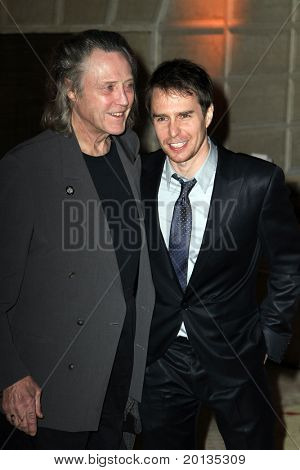 NEW YORK - MAY 13 : Actor Christopher Walken (L) and Sam Rockwell (R) attend the Almay Concert to celebrate the Rainforest Fund's 21st birthday at the Plaza Hotel on May 13, 2010 in New York City.