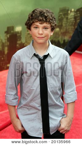 "NEW YORK - JULY 6: Actor Jake Cherry attends the premiere of ""The Sorcerer's Apprentice"" at the New Amsterdam Theatre on July 6, 2010 in New York City."
