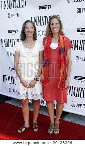NEW YORK - AUGUST 26: Executive producers Lisa Lax (L) and Nancy Stern Winters (R) attend ESPN Films'