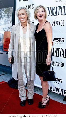 NEW YORK - AUGUST 26: Tennis legends Martina Navratilova (L) and Chris Evert (R) attend ESPN Films'
