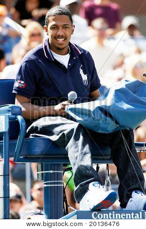 FLUSHING, NY - AUGUST 28: Comedian Nick Cannon attends Arthur Ashe Kids' Day at the Billie Jean King National Tennis Center on August 28, 2010 in Flushing, New York.