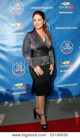 FLUSHING, NY - AUGUST 30: Singer Gloria Estefan arrives at the 2010 US Open Tennis Opening Ceremony at the Billie Jean King National Tennis Center on August 30, 2010 in Flushing, NY.