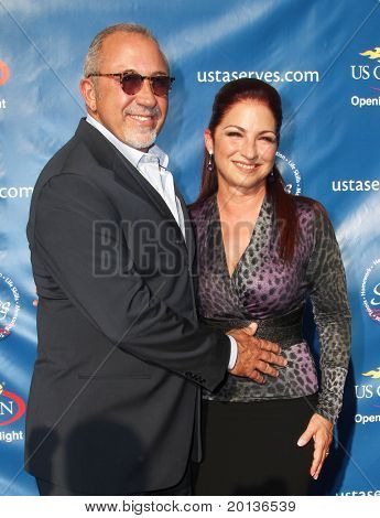FLUSHING, NY - AUGUST 30: Emilio Estefan and Gloria Estefan arrive at the 2010 US Open Tennis Opening Ceremony at the Billie Jean King National Tennis Center on August 30, 2010 in Flushing, NY.