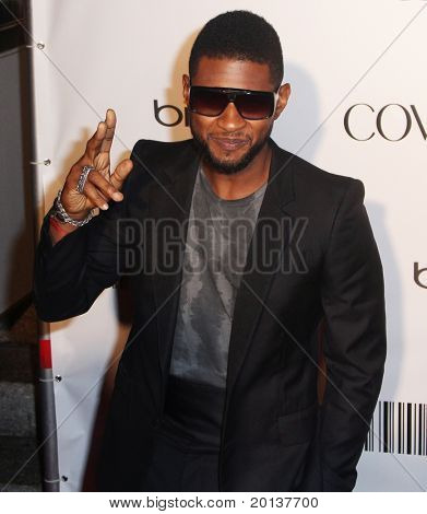 NEW YORK - SEPTEMBER 30: Singer Usher attends the Keep A Child Alive's Black Ball at the Hammerstein Ballroom, hosted by Alicia Keys on September 30, 2010 in New York City.