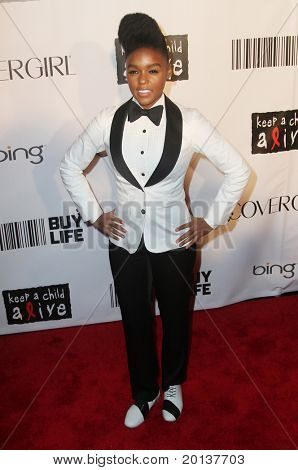 NEW YORK - SEPTEMBER 30: Singer Janelle Monae attends the Keep A Child Alive's Black Ball at the Hammerstein Ballroom  hosted by Alicia Keys on September 30, 2010 in New York City.