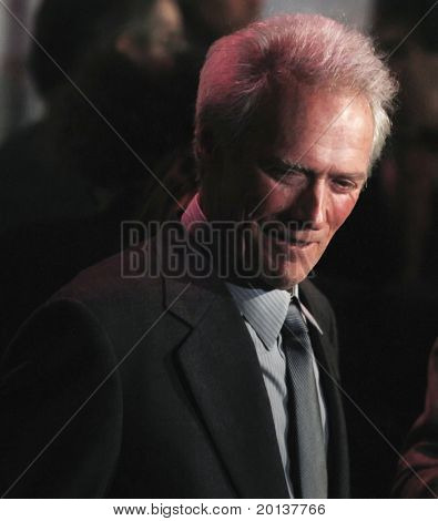 NEW YORK - OCTOBER 10: Clint Eastwood attends the premiere of