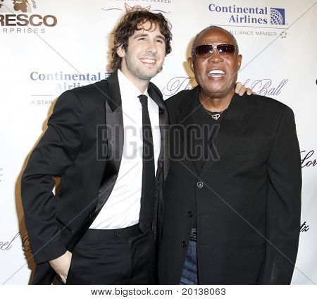 NEW YORK - OCTOBER 21: Singers Josh Groban and Sam Moore attend Angel Ball 2010,hosted by Gabrielle's Angel Foundation for Cancer Research at Cipriani's on October 21, 2010 in New York City.