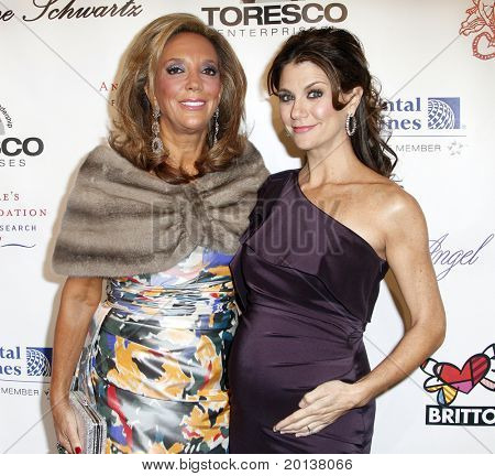 NEW YORK - OCTOBER 21: Denise Rich and Samantha Harris attend Angel Ball 2010, hosted by Gabrielle's Angel Foundation for Cancer Research at Cipriani's on October 21, 2010 in New York City.
