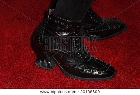 NEW YORK - DECEMBER 6: Shoes worn by Whoopi Goldberg at the Face of Tisch gala at the Frederick P. Rose Hall on December 6, 2010 in New York City.