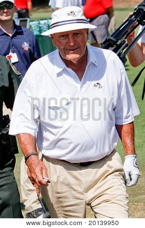 ORLANDO, FL - MARCH 23: Arnold Palmer during a practice round at the Arnold Palmer Invitational Golf Tournament on March 23, 2011 at the Bay Hill Club and Lodge in Orlando, Florida.