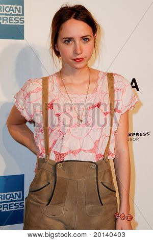 "NEW YORK - APRIL 20: Zoe Kazan attends the opening night premiere of ""The Union"" at 2011 TriBeCa Film Festival at North Cove at World Financial Center Plaza on  April 20, 2011 in New York City."